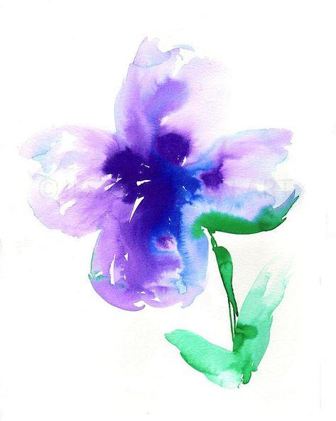 43 Ideas Flowers Purple Painting