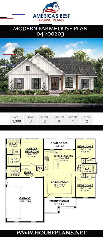 40 Small Modern Farmhouse Plans To Build Your Dream House Still You Don T Need To Be All In Modern Farmhouse Plans Small Farmhouse Plans House Plans Farmhouse