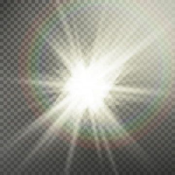 Sunlight Rays Effect With Lens Flare Effect Illustration Background Light Vector Png And Vector With Transparent Background For Free Download Lens Flare Light Flare Lens Flare Effect