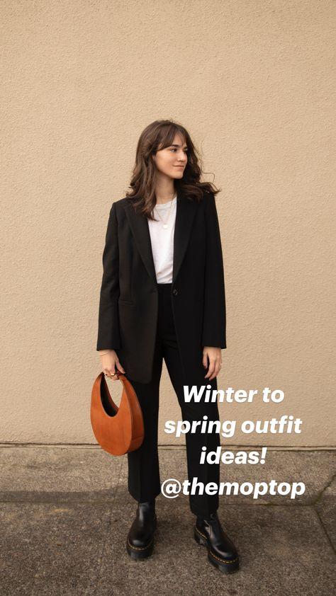 Winter to spring outfit ideas! @themoptop