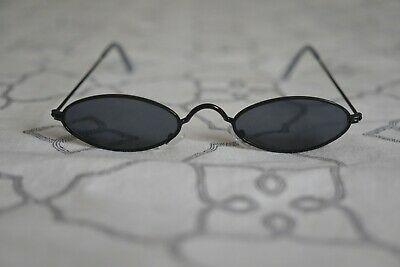 Vintage Retro Ovale Herren Damen Sonnenbrille Schwarz John
