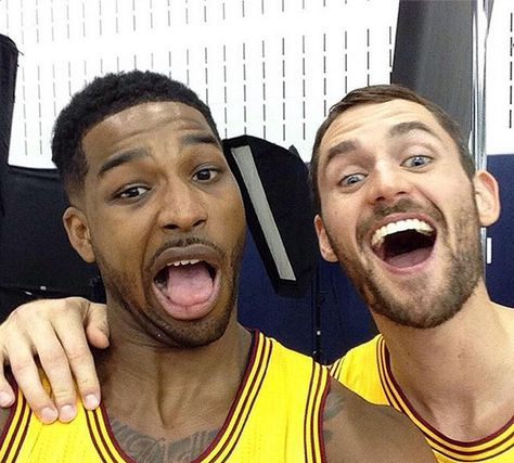 Kevin Love and Tristan Thompson at Cavs Media Day