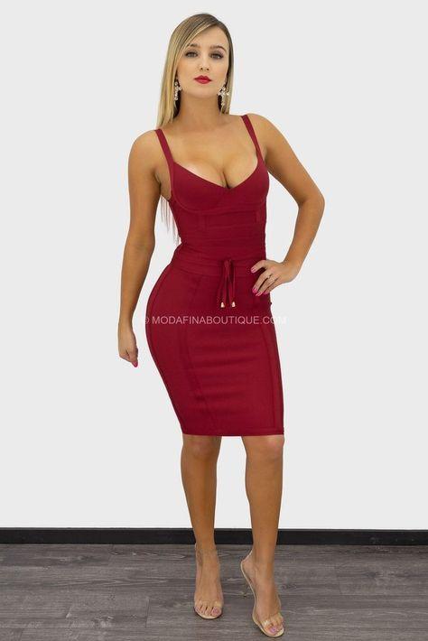 Kacey Sleeveless Belted Bandage Mini Dress