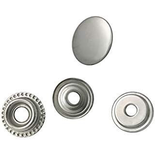 Snap Fastener Tool Kit 200 Sets Snap Fasteners Kit Tool 9.5mm Metal Snap Buttons Rings with Tool Kit for Clothing