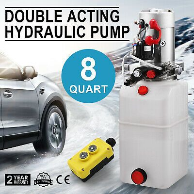 Ad Ebay 12 Volt Hydraulic Pump For Dump Trailer 8 Quart Poly Double Acting Dump Trailers Hydraulic Pump Car Lifts