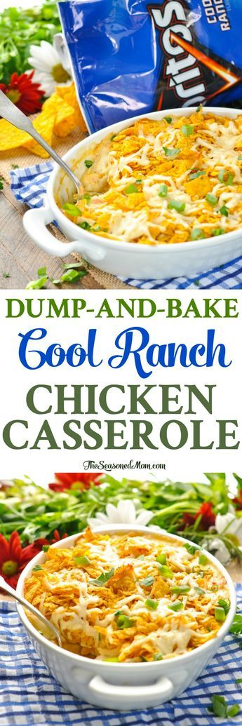 healthy food recipes chiken dinner cooking This Dump-and-Bake Cool Ranch Chicken Casserole is an easy dinner recipe for busy families! Healthy Potato Recipes, Mexican Food Recipes, New Recipes, Cooking Recipes, Favorite Recipes, Cauliflower Recipes, Casseroles Healthy, Pork Recipes, Recipies
