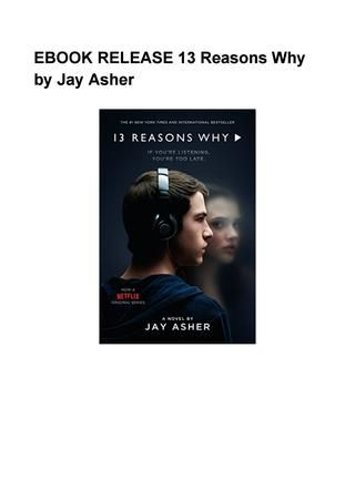 13 reasons why by jay asher free ebook