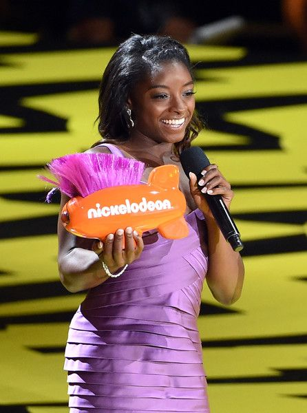Olympic gymnast Simone Biles accepts Favorite Female Athlete onstage during Nickelodeon Kids' Choice Sports Awards 2017 at Pauley Pavilion on July 13, 2017 in Los Angeles, California.