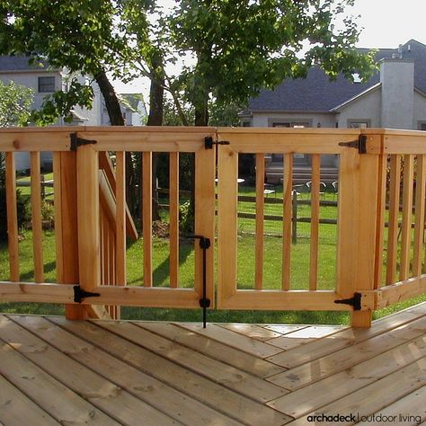 For extra security on your deck, consider a safety gate incorporated in to the rail design.