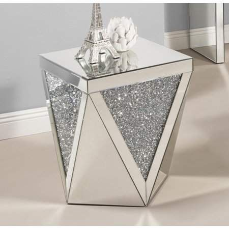 Best Quality Furniture Mirrored End Table Ct51 Mirrored End Table Furniture Decor Mirrored Furniture