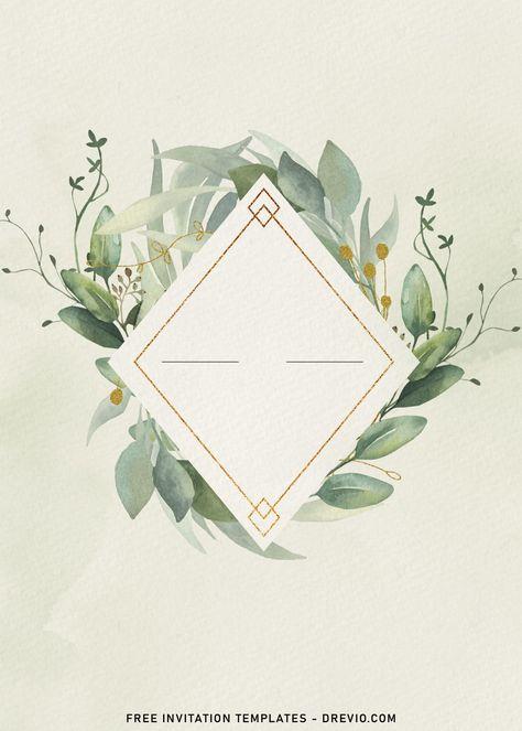 7+ Aesthetic Spring Leaf Birthday Invitation Templates