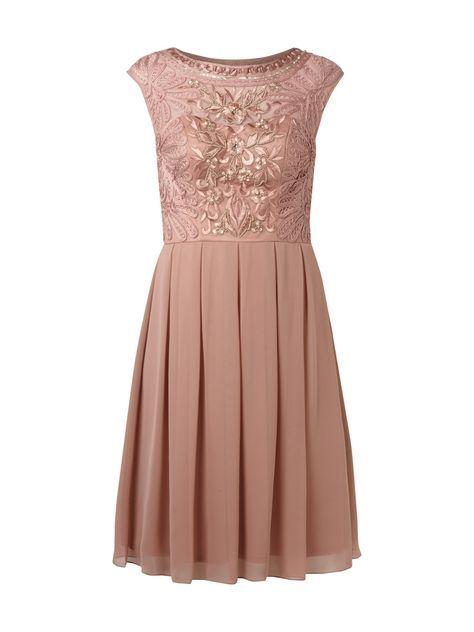 Niente Cocktailkleid Mit Zierborten Und Stickereien In Rose Online Kaufen 9452065 Cocktailkleid Kleider Hochzeit Kleid Standesamt
