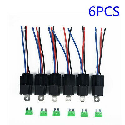 Ad Ebay 6 Pack 30a Fuse Relay Switch Harness Set Dc 12v 5 Pin Spst Automotive Relays New In 2020 Car Fuses Automotive Accessories Relay