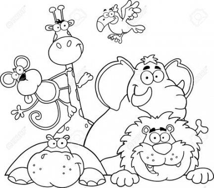 59 Ideas Baby Animals Clipart Black And White For 2019 Animal Coloring Pages Giraffe Coloring Pages Animal Coloring Books