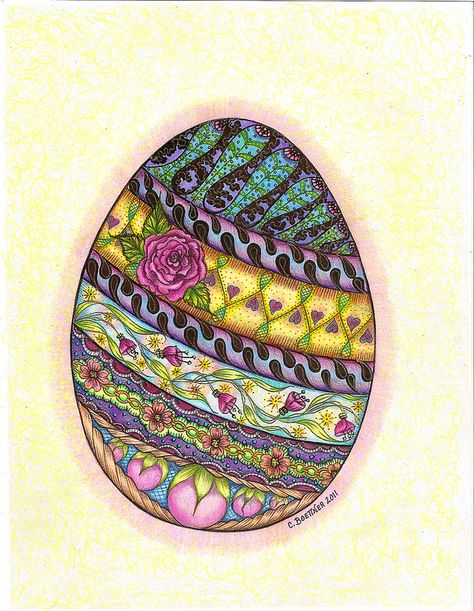 Easter egg coloring page by carolynboettner, via Flickr