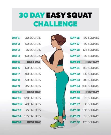 30 Days EASY Squat Challenge!