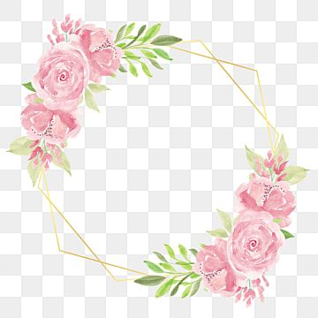Rustic Watercolor Floral Frame With Pink Rose Flower Decoration Watercolor Clipart Rose Wedding Png Transparent Clipart Image And Psd File For Free Download In 2021 Pink Flower Painting Floral Wreath Watercolor