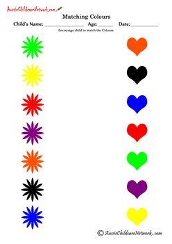 Color Matching Game | Worksheet | Education.com