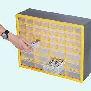 GFORGE HL3045D 44 Drawer Heavy Duty Plastic Organizer Storage Box