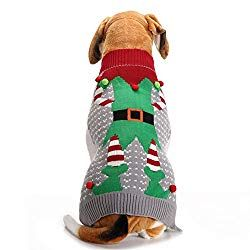 792a51b0f2ce Ugly Hoodie and Sweaters: Christmas Dog Sweater Ugly Elf Pet Jumper ...