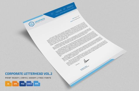 Check out Corporate Letterhead 2 with MS Word by nazdrag on - corporate letterhead