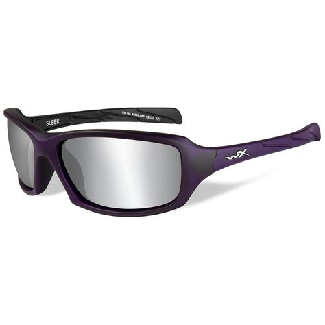 Grey Lens Wiley X Boss Silver Flash Sunglasses Gloss Black Frame