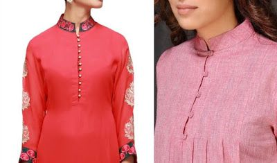 41 Latest Neck Designs For Kurtis With Collar Stylish Collar Neck Patterns Kurti Neck Designs Neck Designs Kurta Neck Design