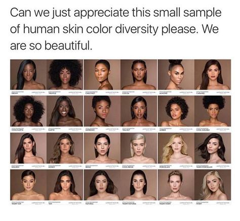 But look, they all belong to the western definition of beauty. The only variation between these women is their skin color. It's obvious there's no cultural diversity represented here. And this is what we think diversity is - simply different skin colors.