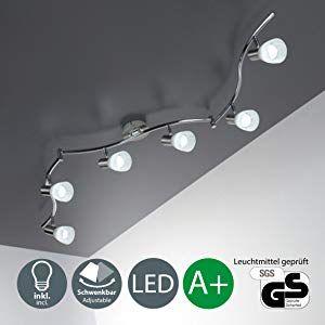 LED Deckenlampe Design Leuchte weiß Deckenstrahler Lampe Deckenleuchte beweglich