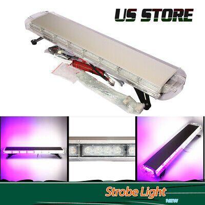 Ad Ebay 38 72 Led White Purple Strobe Light Bar Emergency Beacon Warning Response Lamp Strobe Lights Bar Lighting Lamps For Sale