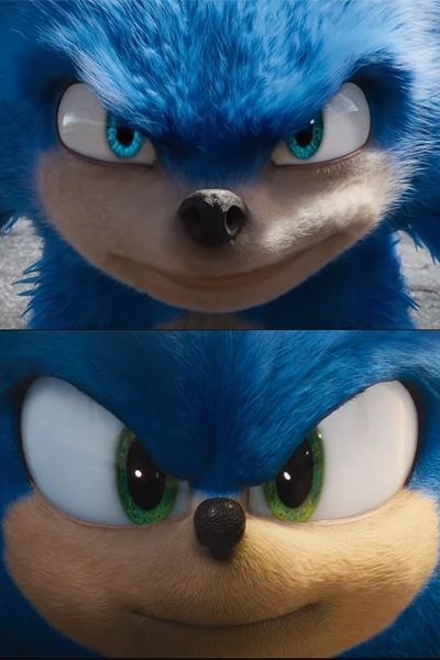 Sonic The Hedgehog 2020 New Vs Old Trailer Comparison In 2020 Hedgehog Movie Sonic The Hedgehog Sonic