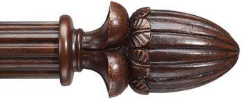 Barre Custom 2 Wood Rod In Walnut Finish Color Extra Long