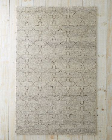 This plush Moroccan Star patterned rug looks and feels like a treasured piece from a luxurious estate.