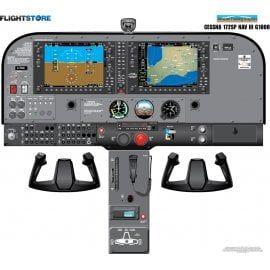 Cessna 172S Skyhawk Cockpit Poster with Garmin G1000 built-in Auto Pilot