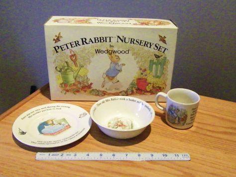 Beatrice Potter Peter Rabbit Nursery Set Wedgwood I Have This Love Dr Seuss Pinterest