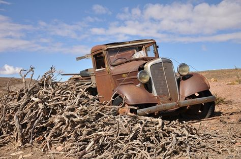 Rusty Old Pickup Truck in the desert