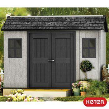 Keter Oakland 11ft X 7ft 6 3 4 X 2 3m Side Door Shed Garden Storage Shed Shed Plastic Sheds