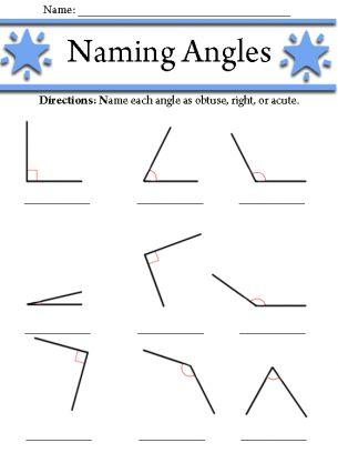 Angles Worksheet Angles Worksheet Math Curriculum Geometry Worksheets 4th grade math worksheets angles