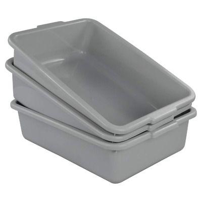 Ucake Plastic Bus Tub Shallow Plastic Tub Utility Bus Dish Pan Light Grey 3 Pa In 2020 Bus Tubs Washing Up Bowls Dish Pan
