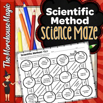 Review The Scientific Method With Your Students With This Quick No Prep And Fun Maze Puzzle Students Scientific Method Doodle Notes Science Experiments Kids