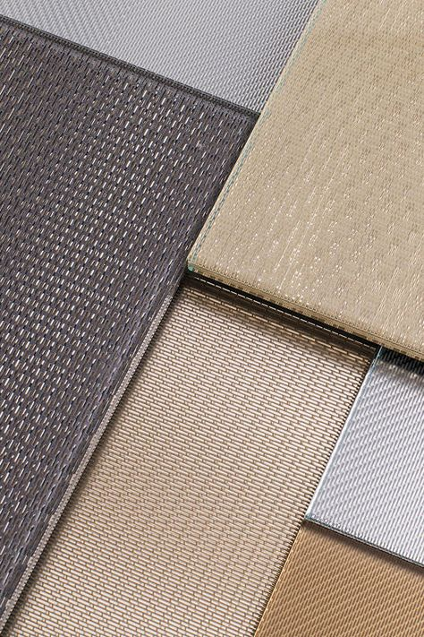 ViviTela Mesh brings the rich look of woven metal to glass. Precise patterns in colors matching other F+S metals offer a wide range of design and performance options.