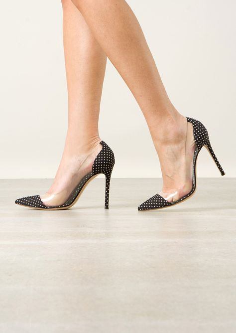 cc19ec9c0872 Gianvito Rossi Pumps    Gianvito Rossi Polka-dot fabric Plexi pumps ...