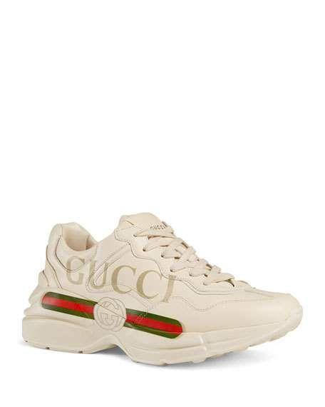 Gucci Rhyton Gucci Print Leather