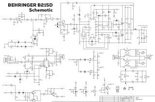 Power Amplifier Cl-D Behringer B215D Schematic and PCB ... on