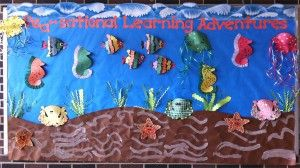 Here's another fun ocean-themed bulletin board display that will help you herald in the warmer spring months with dynamic style! We found it through the Rapides Parish School Board website - the.