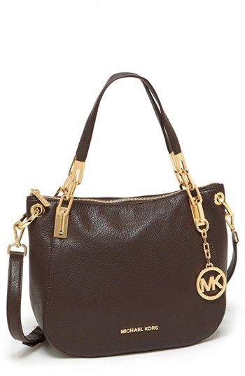 ca5ba68b060b MICHAEL Michael Kors  Brooke - Medium  Leather Shoulder Bag ...
