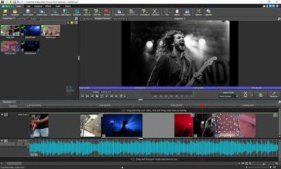 Videopad برنامج المونتاج للمبتدئين مجاني و محرر الفيديو يعمل بنظام التشغيل ويندوز من أسهل و أفضل برامج المونتا Television Lockscreen Screenshot Flat Screen