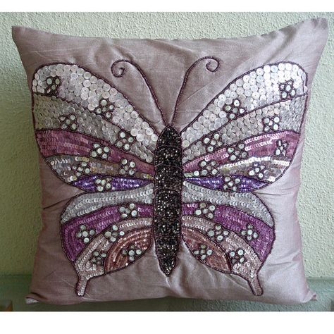 Pink Throw Pillows Cover Couch, Beaded