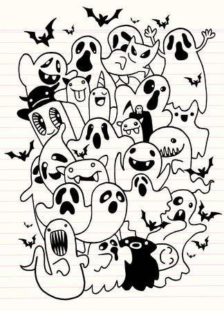 Stock Vector Itsik In 2019 Halloween Drawings Doodle