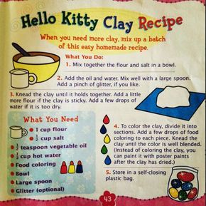 How To Make Clay At Home The Good Recipes And The One Not To Use How To Make Clay Homemade Clay Clay Food